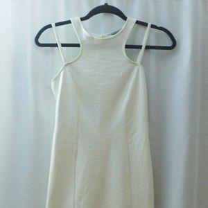 Open Back White Solemio Dress